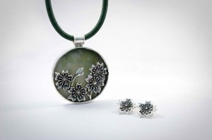 cherryblossom pendant and earrings_web